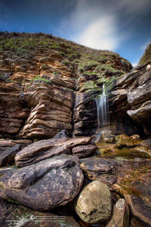 Waterfall at Peedie Sands