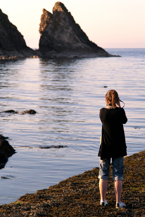 Taking a picture of Lauren, taking a picture of a seal.