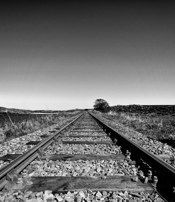 Yes, I was trespassing on the railway :) - The black and white approach