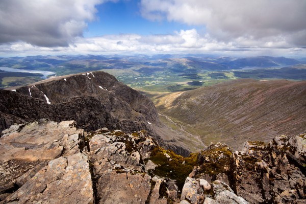 Looking out over the north face of Ben Nevis