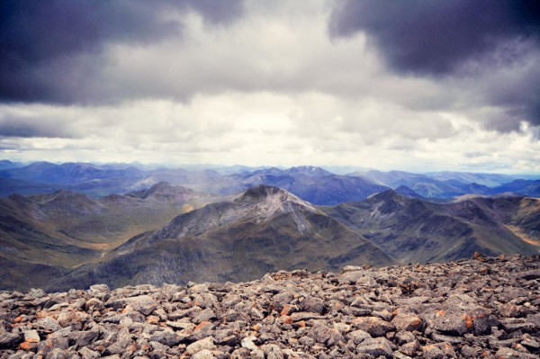 Looking south from the summit of Ben Nevis