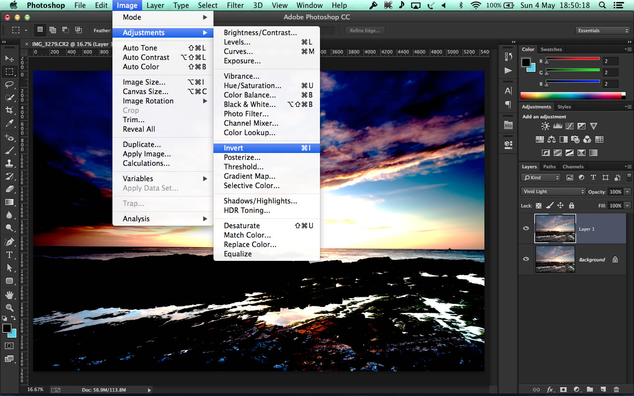how to change the contrast of photos in photoshop