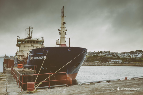 Ship berthed at the North Quay, Wick