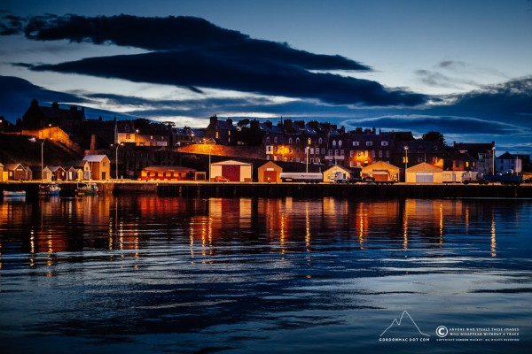 246/365 - Wick Harbour at dusk