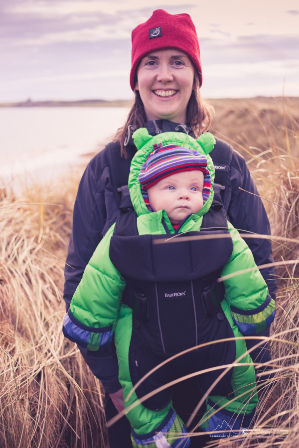 Kirsty and Murdo in the dunes at Reiss Beach