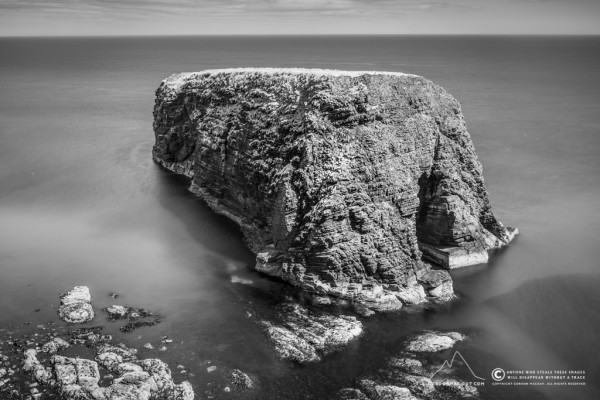 Stack o' Brough after a fine walk along the coast