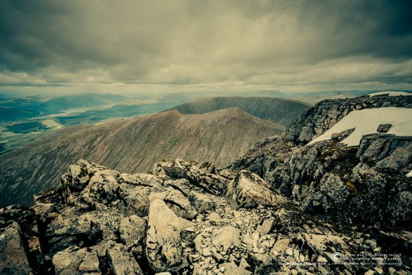 Summit of Ben Nevis and CMD Arete