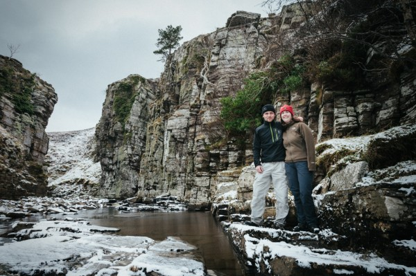 Kirsty and I down near the foot of Prisoner's Leap