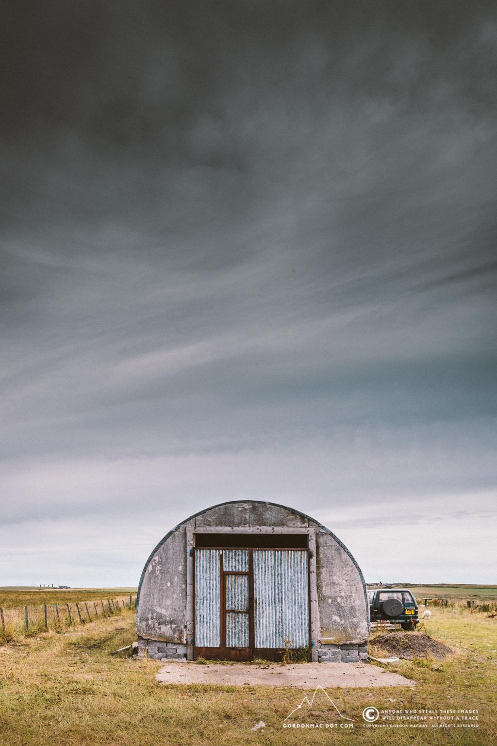 Nissen hut opposite Upper Puldagon